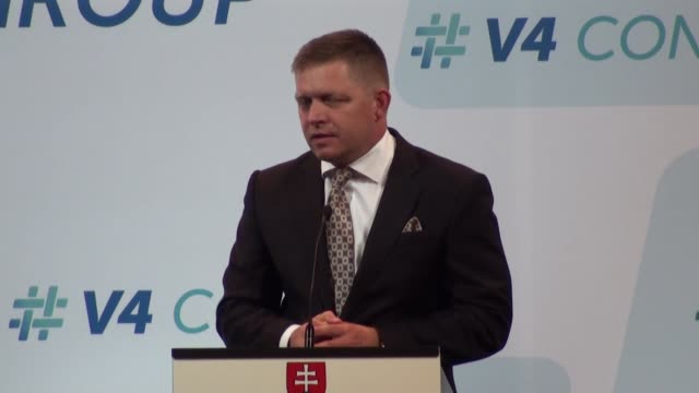 slovakian prime minister robert fico prime minister of hungary viktor orban prime minister of poland beata szydlo czech republic prime minister... - president of egypt stock videos & royalty-free footage