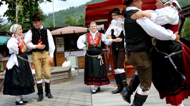 Slovenia, Bohinj, dance of the local folk group