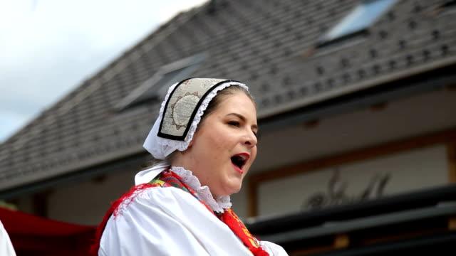 Slovenia, Bohinj, dance of the local folk group