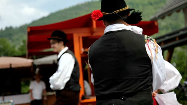slovenia, bohinj, dance of the local folk group - tradition stock-videos und b-roll-filmmaterial