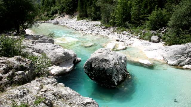 Slovenia, Bovec, Trenta valley, view of Soca river