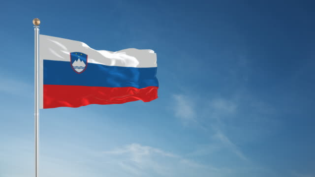 4K Slovenia Flag - Loopable