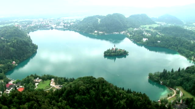 hd: slovenian landscape - bled - lake bled stock videos & royalty-free footage