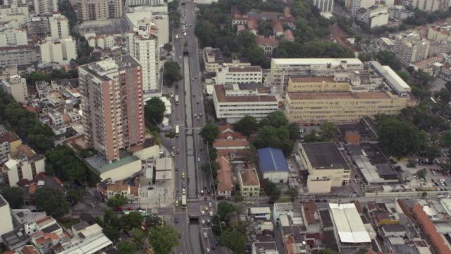 vídeos de stock, filmes e b-roll de slow aerial footage of downtown rio - centro da cidade
