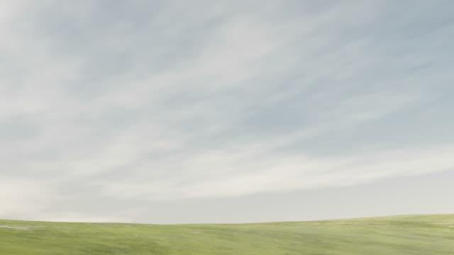 スロウ雲の芝生 - 草地点の映像素材/bロール