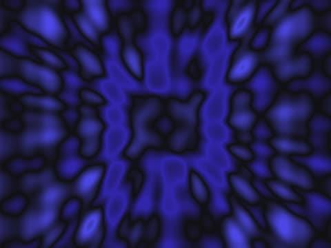 CU CGI Slow flowing blue blobs in motion