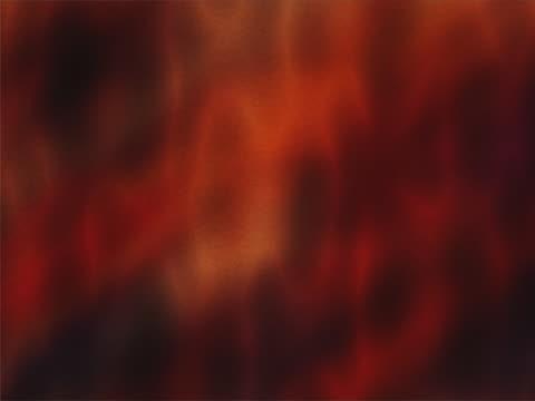 CU CGI Slow flowing red blobs in motion
