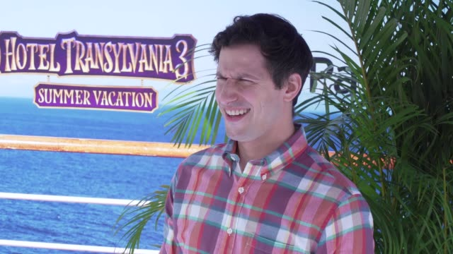 Slow Mo Andy Samberg at the Hotel Transylvania 3 Summer Vacation World Premiere at Regency Village Theatre on June 30 2018 in Westwood California