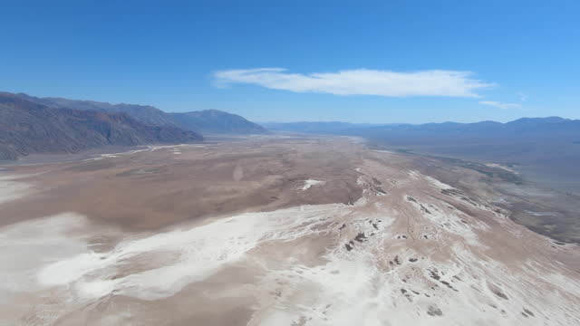 slow motion aerial flying over death valley california in small airplane - death valley national park stock videos & royalty-free footage