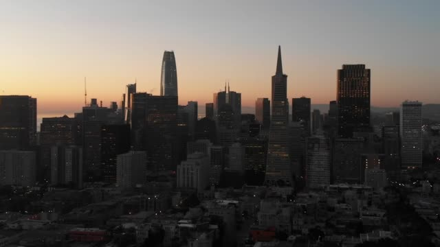 slow motion aerial video - coit tower in san francisco - coit tower stock videos & royalty-free footage