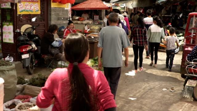 スローモーションバックストリート中国 - 中国点の映像素材/bロール