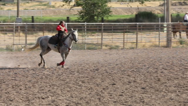 slow motion barrel racing - rodeo stock videos & royalty-free footage