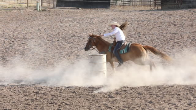 Slow Motion Barrel Racing