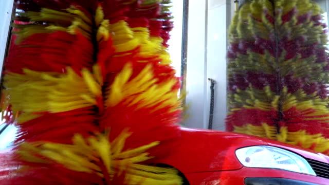 slow motion car wash machine - car wash stock videos & royalty-free footage