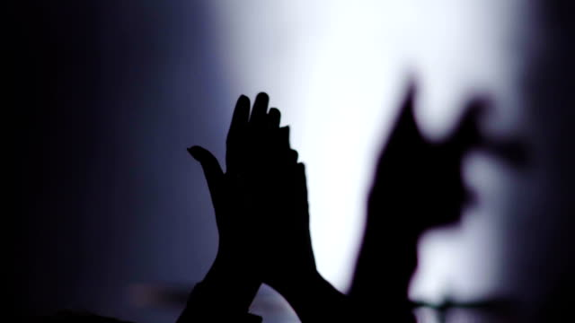 Slow motion: Clapping hands on concert