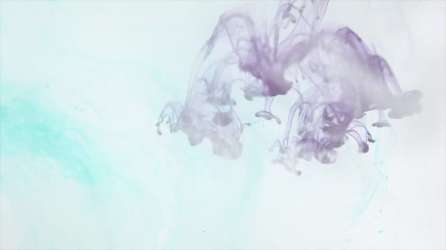 slow motion color ink in water with abstract fluid shapes - motion graphics stock videos & royalty-free footage