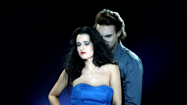 hd slow motion: cruel passionate vampire couple - vampire stock videos and b-roll footage