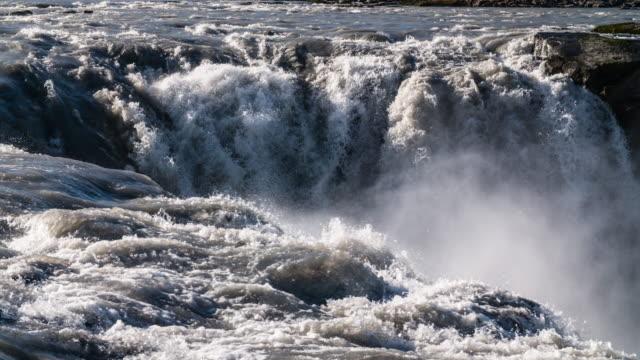 Slow Motion - Dettifoss Waterfall in Iceland