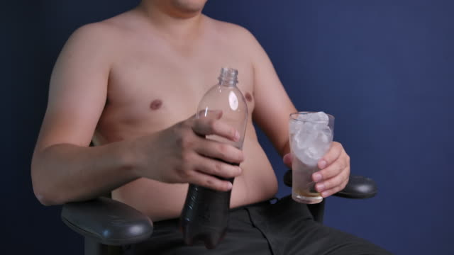slow motion fat asian asian men - cellulite stock videos & royalty-free footage