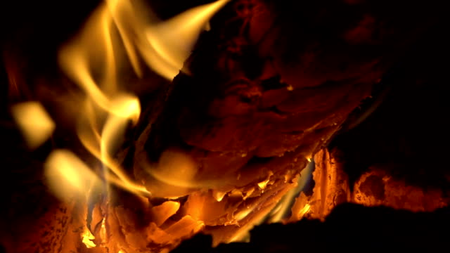 hd: slow motion fire - chalet stock videos & royalty-free footage
