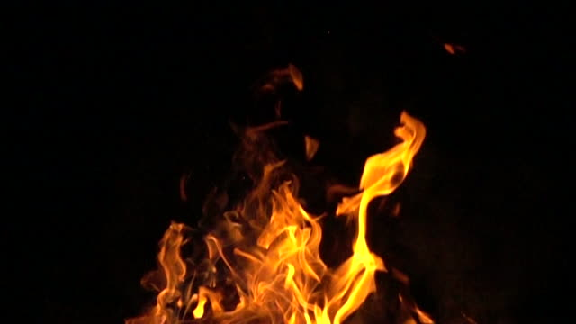 slow motion flames - fuoco video stock e b–roll
