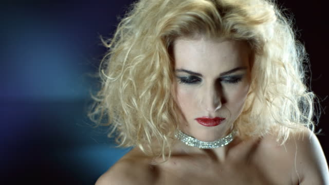 hd slow motion: glamourous vampire snarling at camera - vampire stock videos and b-roll footage