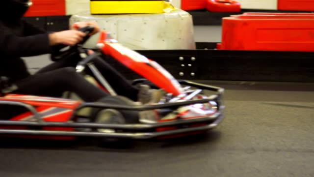 slow motion: gocarting - go cart stock videos & royalty-free footage