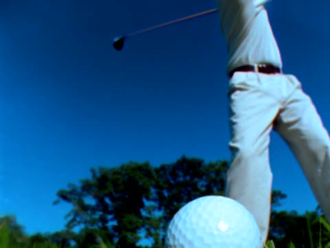 Slow motion golf ball hit