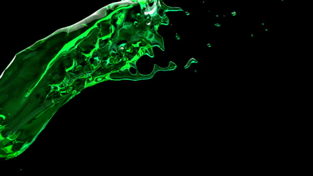 Zeitlupe green liquid splash