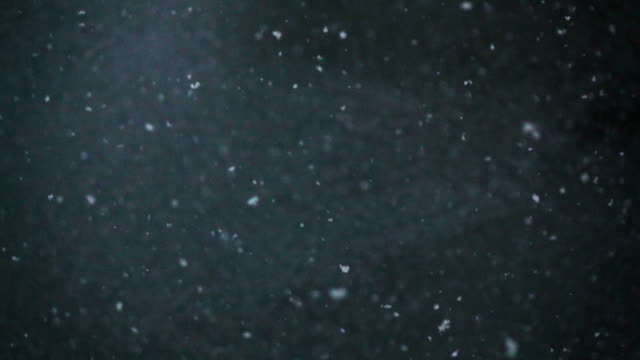 Slow Motion HD - Snow falling on black background