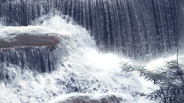 Slow motion HD: Tropical Waterfall in Forest in Thailand.