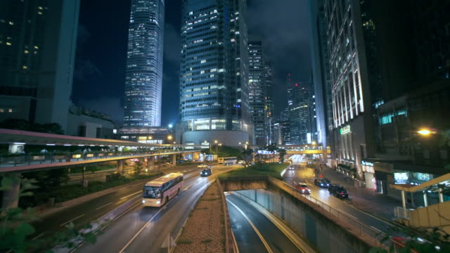 slow motion :hongkong crossroad - digital composite stock videos & royalty-free footage