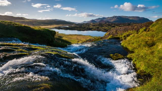 zeitlupe island landschaft - snäfellsnes stock-videos und b-roll-filmmaterial