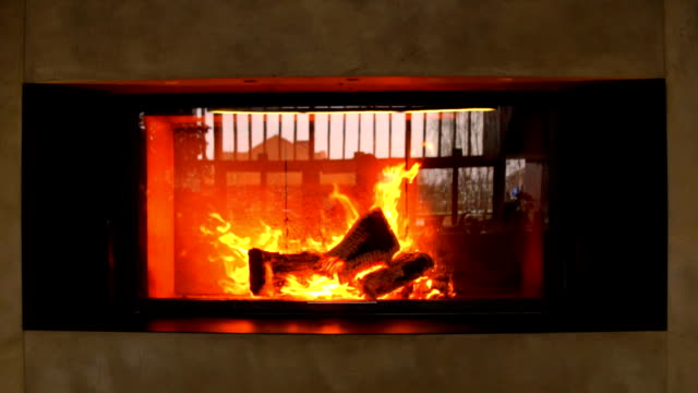 slow motion: massive fire in fireplace - ornate stock videos and b-roll footage