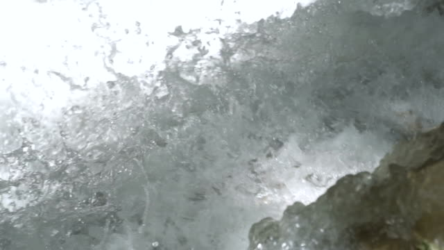 slow motion of close-up waterfall - rapid stock videos and b-roll footage