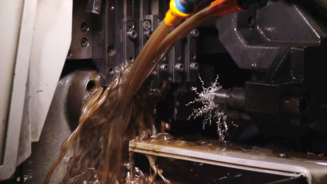 slow motion of cnc machine, lathe. - foundry stock videos & royalty-free footage