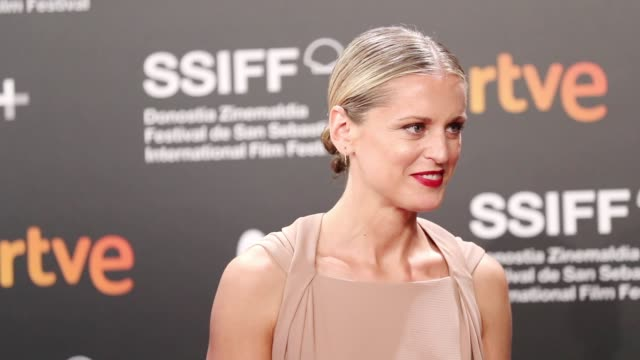 slow motion of denise gough during the 'the other lamb' premiere during the 67th san sebastian film festival in the northern spanish basque city of... - arts culture and entertainment stock videos & royalty-free footage