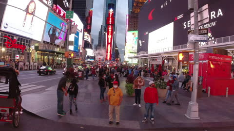 slow motion of driving in times square amid the 2020 global coronavirus pandemic. - digitally generated image stock videos & royalty-free footage