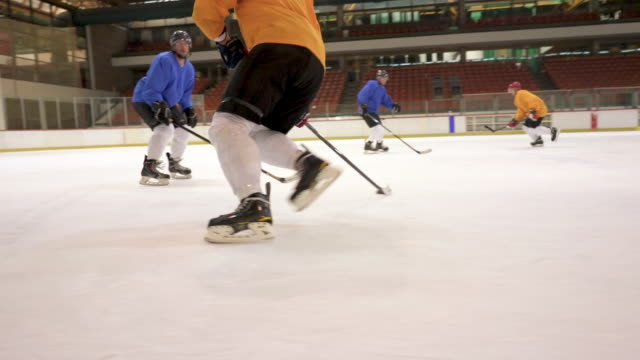 Slow motion of men's ice hockey match!