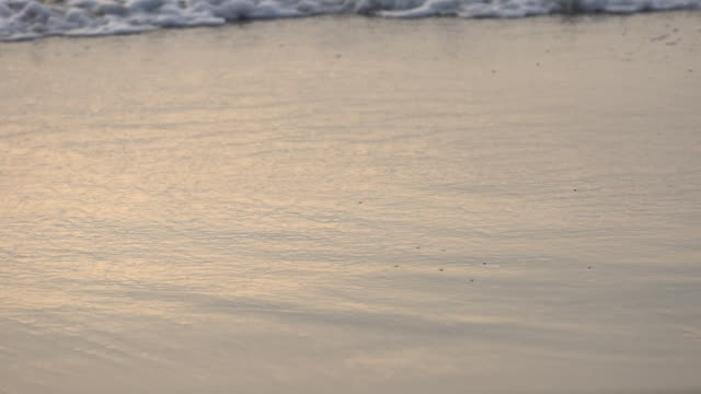 Slow motion of ocean waves coming in onto the beach. - Slow Motion - filmed at 240 fps