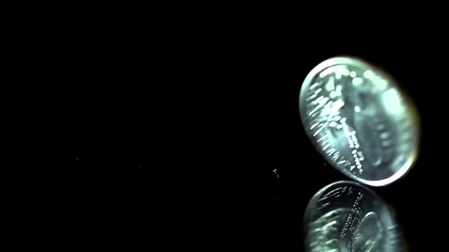 slow motion of us dollar coin rotating - spinning stock videos & royalty-free footage