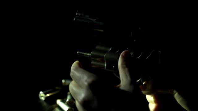Slow Motion of Using Revolver Gun