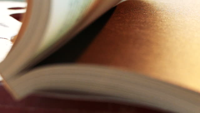 slow motion of white books pages turning. - open magazine stock videos & royalty-free footage