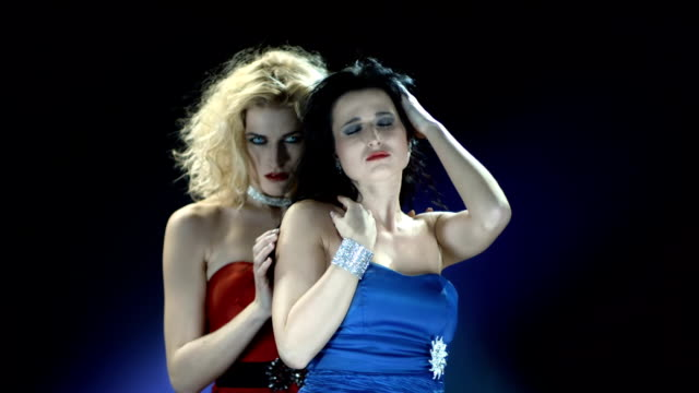 hd slow motion: passionate vampire women - fetishism stock videos & royalty-free footage