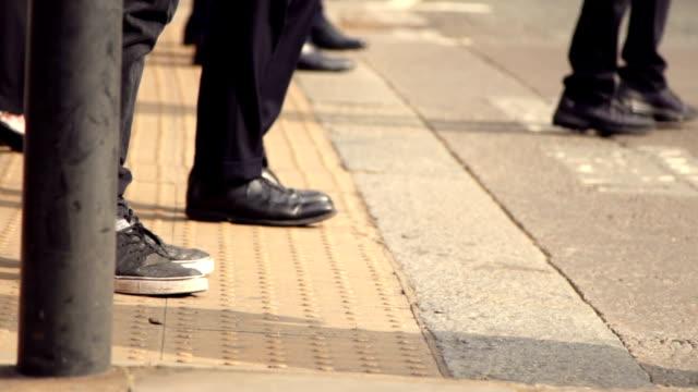 Slow motion: pedestrian crosswalk