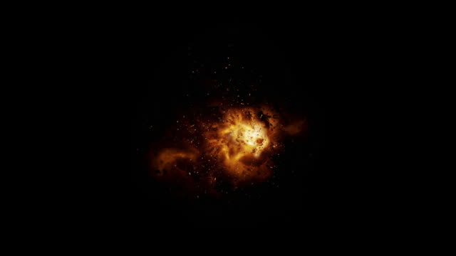 slow motion realistic explosion + alpha - fireball stock videos & royalty-free footage