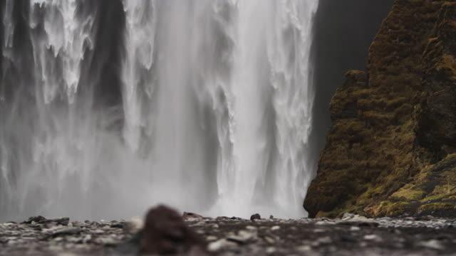 Slow motion, roaring waterfall