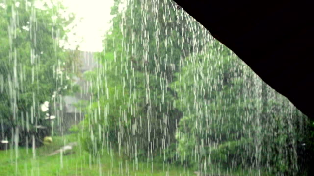 slow motion: roof in the storm - roof stock videos & royalty-free footage