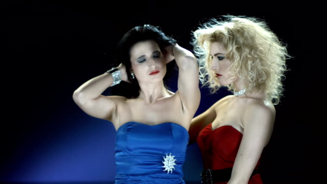 hd slow motion: seductive vampire women - vampire stock videos and b-roll footage
