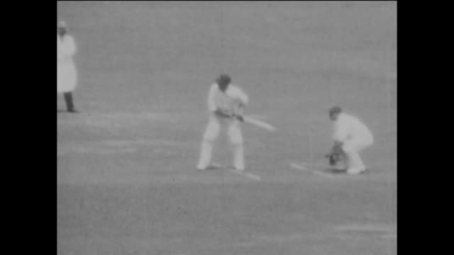 slow motion sequence of england bowler fred root bowling to the australian batsman warren bardsley during the 2nd ashes test match between england... - black and white stock videos & royalty-free footage